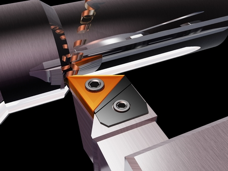 Metal working of the machine.,3d render