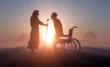 God heals the sick..3d render Фото со стока