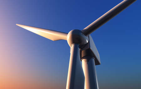 The screw of the generator of a wind, 3d render
