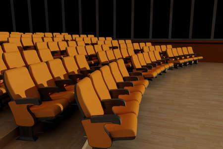 Empty hall for public performances., 3d render