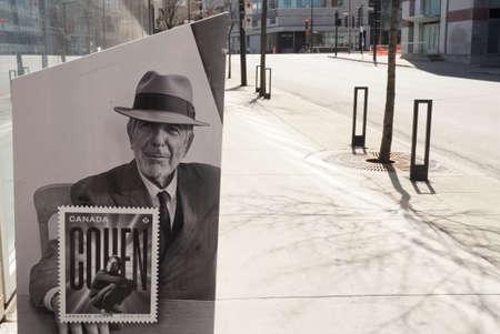 Montreal, Quebec / Canada - April 25, 2020: A postbox of Poste Canada.