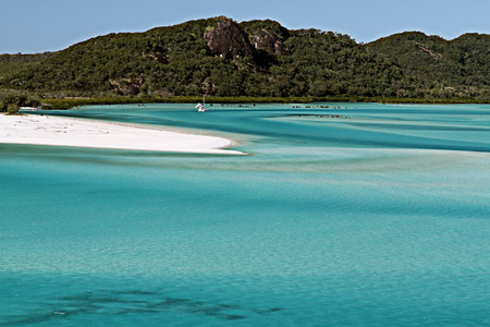 whitehaven beach: Whitehaven Beach in the Whitsunday Islands, Queensland Stock Photo