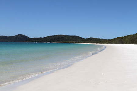 Whitehaven beach on Whitsunday Island, Queensland, Australia