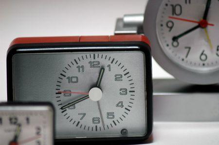 timepieces: three watches Stock Photo