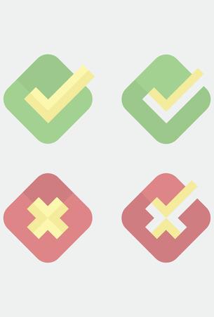prohibido: Piso iconos casilla: permitidos y prohibidos Vectores