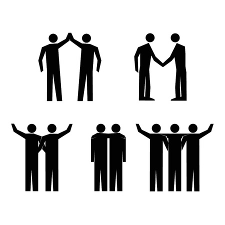 straighten: Human Action Poses. Stick Figure Pictogram Icons