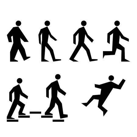 deployed: Human Action Poses. Stick Figure Pictogram Icons