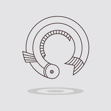 simple fish: Simple flat fish icon on gray background