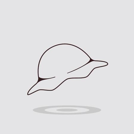 Simple flat dumplings icon on gray background