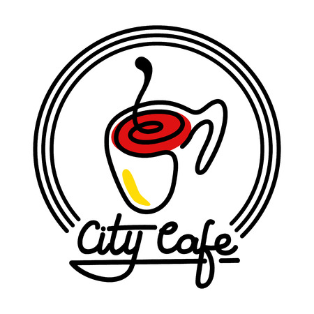 City Cafe Logo Template Design Vector illustration. Isolated on the white background.