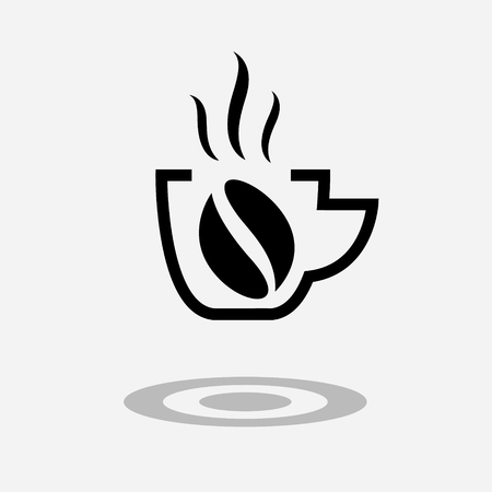 Coffee drink or cup of tea icon. Isolated on the grey background