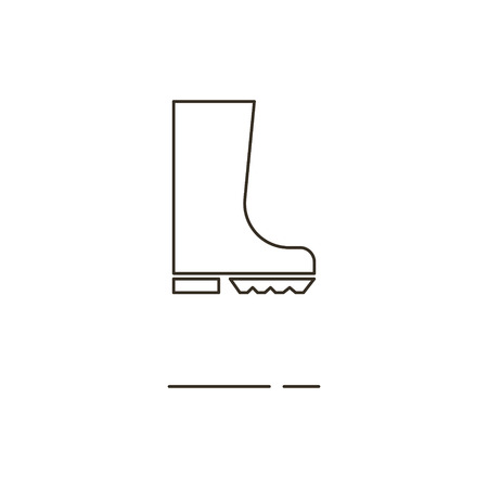 gumboots: Minimal modern thin line gumboots icon on white background. Linear symbols.