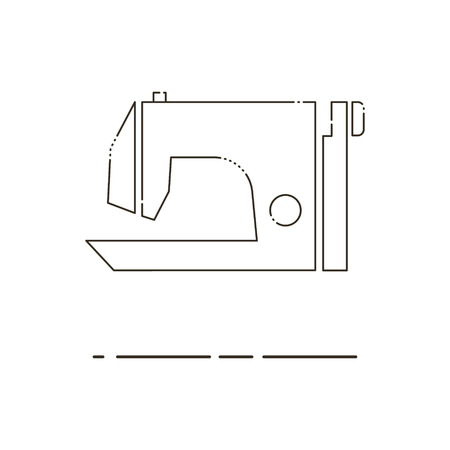 Sewing Machine Thin Line Vector Royalty Free Cliparts Vectors And
