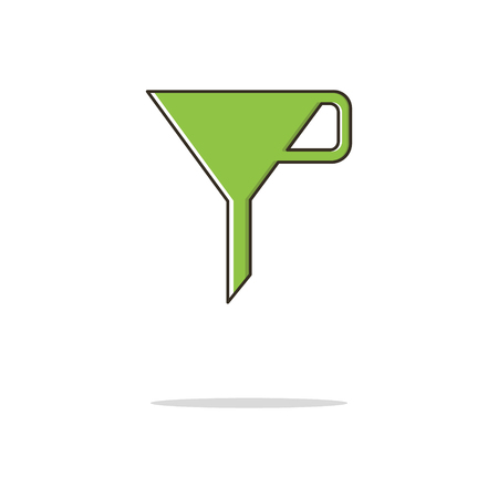 Funnel color thin line icon on white background. Linear symbols.