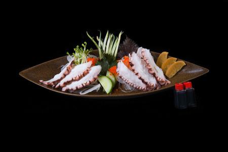 sake maki: Fresh octopus sashimi Stock Photo