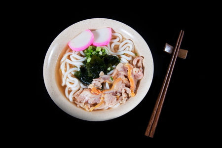 sake maki: Udon noodle Stock Photo