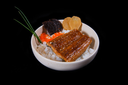 sake maki: Rice with eel grilled