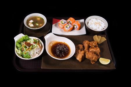 sake maki: Japanese food set