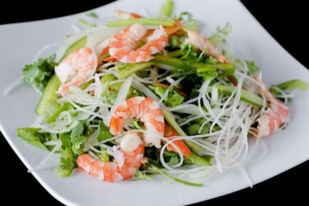 fresh shrimp salad recipes - vietnamese style salad Stock Photo
