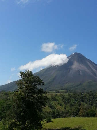 Landscape view of Arenal Volcano and surrounding lands, Costa Rica photo