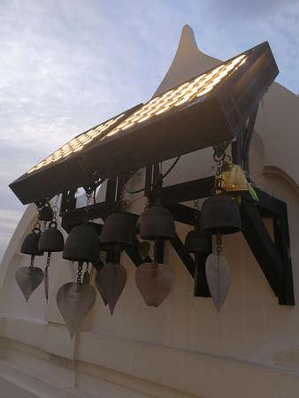 Sacral bells in Wat Saket at Bangkok,Thailand.