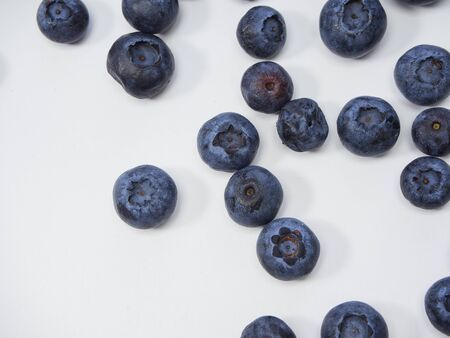 Freshly blueberry on white background. Berries watercolor image for healthy menu design. space for text 写真素材