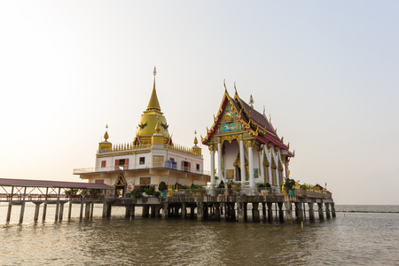 Temple on the sea in Thailand photo