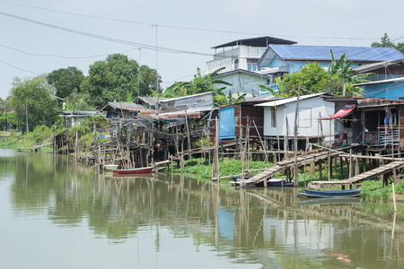 Countryside community beside canal with good natural