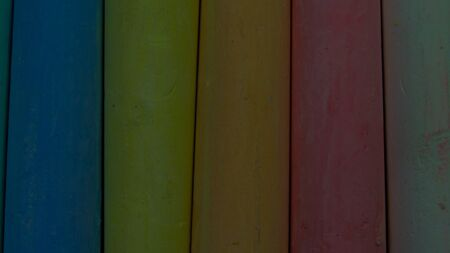 colored crayons background texture