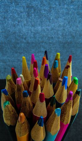 pencils in a bunch. It doesn't matter what color you are if you're connected with each other Banco de Imagens