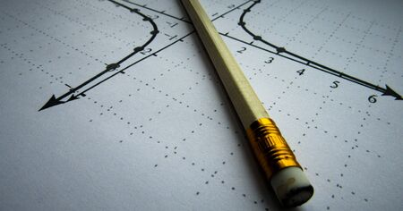 Graphical representation of math functions and a pencil
