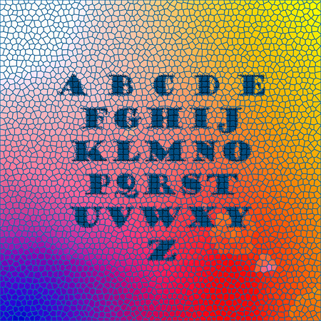 visual effect: English alphabet as background with visual effect Stock Photo