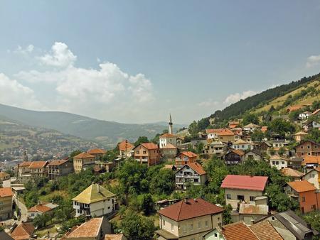 herzegovina: Panoramic view from castle in the Travnik,Bosnia and Herzegovina