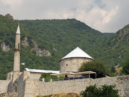mehmed: Panoramic view to castle in the Travnik,Bosnia and Herzegovina