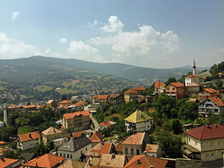 fatih: Panoramic view from castle in the Travnik,Bosnia and Herzegovina