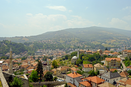 Panoramic view from castle in the Travnik,Bosnia and Herzegovina