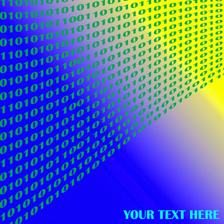 visual effect: Abstract background with visual effect,digit numbers one and zero Stock Photo