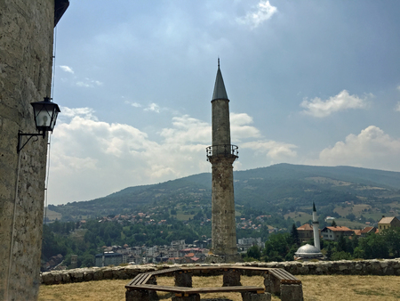 mehmed: Panoramic view over Travnik from old castle,Bosnia and Herzegovina Editorial