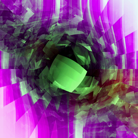 Abstract aneurism coloring gradients background with visual  lens distortion,cubism,lens flare and wave effects