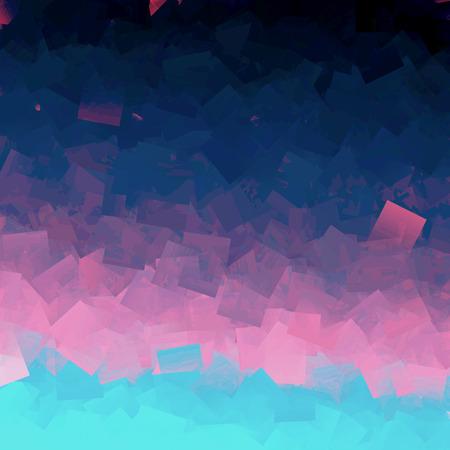 Abstract diepzee kleuren gradiënten achtergrond met visuele effecten kubisme Stockfoto