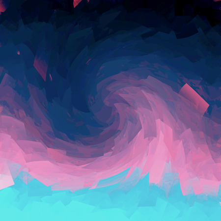 Abstract  deep sea coloring gradients background with visual cubism and twirl effects