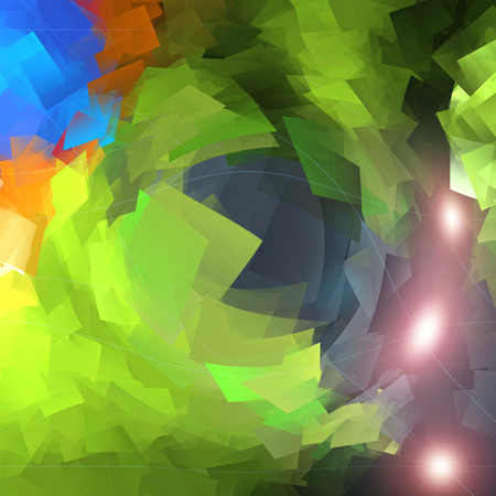 Abstract coloring deep sea gradients background with lens flare,cubism and pinch visual effects