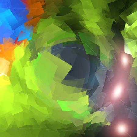 cubismo: Resumen de aguas profundas para colorear gradientes de fondo con reflejo en la lente, el cubismo y el aprisionamiento de efectos visuales Foto de archivo