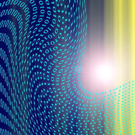 spacial: Abstract coloring special effect gradients background with lens flare  visual effects,binary code numbers one and zero