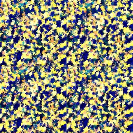 cubismo: Resumen radial coloración azul globo ocular gradientes de fondo con el cubismo visual y efectos pequeños azulejos Foto de archivo