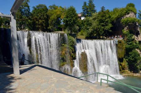 Travel to Europa,waterfall in the Jajce-Bosnia and Herzegovina
