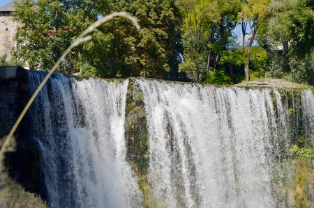 Travel to Europa,waterfall in the Jajce-Bosnia and Herzegovina