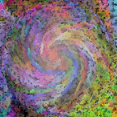 Abstract coloring background of the abstract gradient with visual illusion,twirl,stained glass and cubism effects