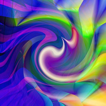 Abstract coloring background of the sunrise gradient with visual illusion,pinch and twirl effects