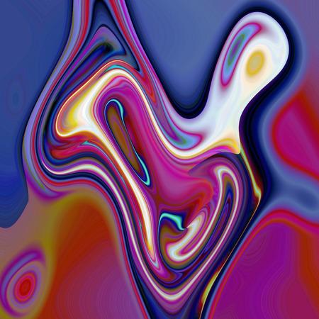 Abstracte kleuren achtergrond van de brand levensduur verloop met visuele knijpen, draai, shear, poolar coördinaten en wave-effecten